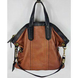orYANY Pebbled Leather Convertible Satchel Bag